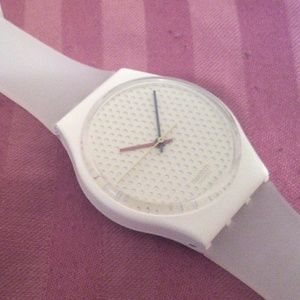 1986 Swatch watch GW105 Pong White